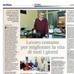 Activities of the Precision Engineering research group presented in the La voce del popolo daily